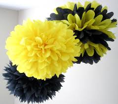 bumblebee party supplies bumble bee 3 tissue paper poms bumble bee birthday bee and