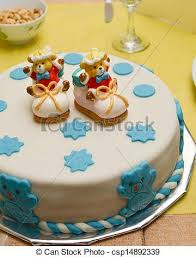 baby birthday cake stock photos of baby boy birthday cake with shoes csp14892339