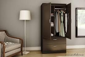 Furniture Closet Amazon Com South Shore Acapella Wardrobe Chocolate Kitchen U0026 Dining