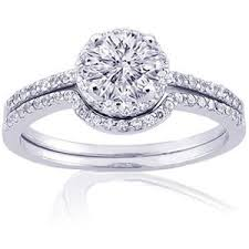Amazon Wedding Rings by Amazon Com 1 Ct Round Diamond Wedding Rings Set Si2 F Egl P