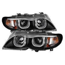 2002 bmw 330i tail lights spyder auto bmw e46 3 series 02 05 4dr projector headlights 1pc