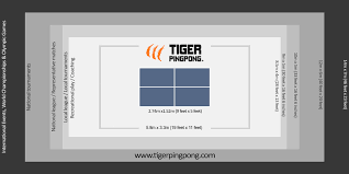 What Are The Dimensions Of A Ping Pong Table by Tiger Pingpong Room Size Chart