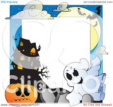 clipart ghost cemetery jackolantern and haunted house halloween