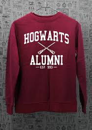 harry potter alumni shirt hogwarts alumni harry potter sweatshirt maroon by treeteatee