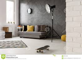 Grey Livingroom Hipster Style Grey Living Room Stock Photo Image 69044308