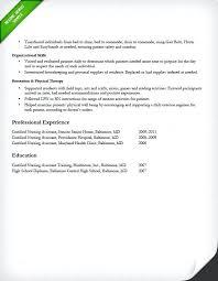 Home Health Aide Job Duties For Resume Cna Example Resume Resume Example And Free Resume Maker