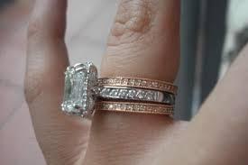 white gold engagement ring with gold wedding band platinum engagement ring with gold wedding band fresh wedding