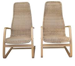 Modern Swedish Furniture by Great Pair Of Mid Century Modern Swedish Chairs Wicker Bentwood