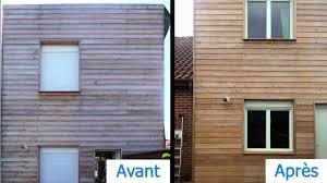 bardage bois claire voie traiter une façade en bois nettoyer dégriser et protéger les