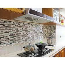 kitchen backsplash peel and stick tiles faux subway glossy wall