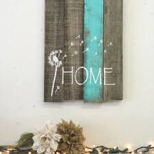 dandelion pallet reclaimed wood sign from rusticlyinspired on