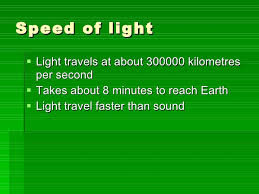does light travel faster than sound images Light amp colour jpg