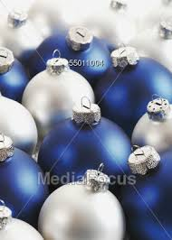 Blue And Silver Christmas Decorations Images by Stock Photo Silver Blue Christmas Tree Ornaments Image 55011004