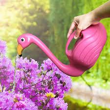 flamingo watering can decorative elegant pot for indoor outdoor