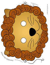 printable lion mask woo jr kids activities