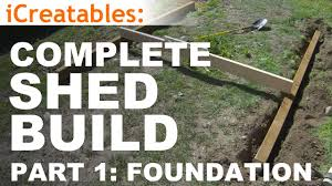 how to build a shed part 1 the shed foundation youtube