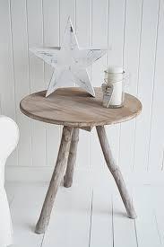 Tripod Side Table Driftwood Grey Tripod Side Table