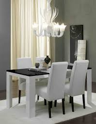 black dining table with white chairs with ideas hd images 10585