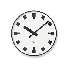Design Clock by Japanese Railway Clock By Riki Watanabe Modern Wall Clock