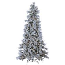 9 pre lit led artificial tree snowbell pine white