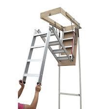 pull down attic loft ladder with rail in aluminium buy attic ladders
