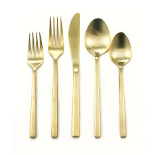 flatware rental arezzo gold flatware pattern