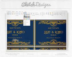 art deco wedding invitation template cketch com