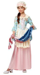 Ross Costumes Halloween Child U0027s Colonial Lady Betsy Ross Costume American Revolution