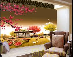 popular farm wall mural buy cheap farm wall mural lots from china custom 3d wall murals wallpaper small farm house bedroom wallpaper non woven sticker wallpaper