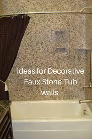 ideas for easy to install diy decorative faux stone tub and shower