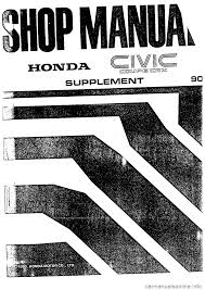 honda civic 1990 4 g supplement workshop manual