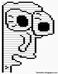 Cool Face Meme - milk face meme copy paste text art cool ascii text art 4 u