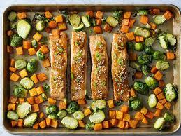 cooking light vegan recipes sheet pan honey soy salmon dinner recipe cooking light mastercook