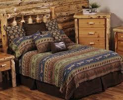 Rustic Themed Bedroom - bedroom cabin bedding lodge comforter sets rustic bedspreads