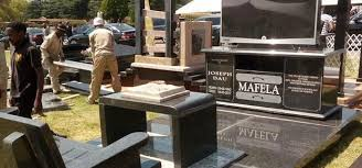 how much is a headstone pics joe mafela s tombstone comes with a and plasma tv