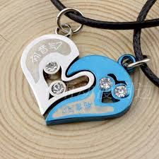 aliexpress heart necklace images Anime hatsune miku heart pendant couple necklace lovers fashion jpg