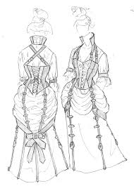 drawn steampunk steampunk dress pencil and in color drawn