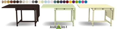 ikea table cuisine pliante around the sims 4 custom content ikea foldable chair