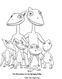 dinosaur train coloring page free download