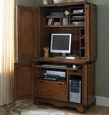 Computer Desk With Hutch Beacon 2 Pc Computer Credenza And Hutch U2013 Cherry L Shaped Desk