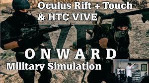onward vr fps military simulation htc vive u0026 oculus rift touch