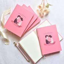 wedding souvenir notebook as wedding souvenir of gio by book idea