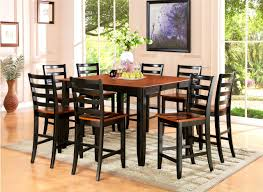 square dining room table for 8 furniture scenic counter height dining table standard round