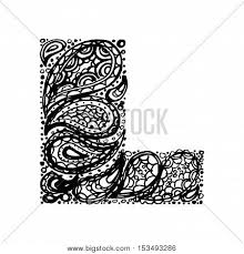 letter l decorative alphabet vector photo bigstock