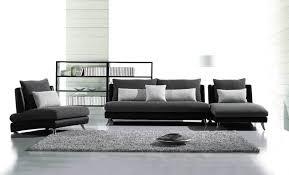 Black Modern Leather Sofa Designer Fabric Sofas Www Redglobalmx Org