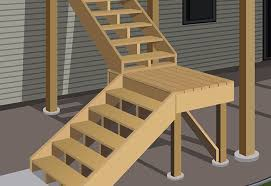 How To Put Up A Handrail How To Build A Single Level Raised Deck At The Home Depot