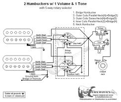 humbuckers 5 way rotary switch 1 volume 1 tone 06