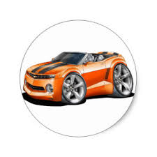 2012 orange camaro camaro stickers zazzle