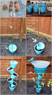 Flower Pot Bird Bath - build this beautiful topsy turvy planter and birdbath to decorate