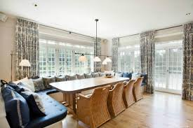Long Narrow Dining Room Table by Captivating Traditional Kitchen With White Built In Bench Seat